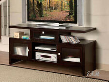"NEW JUPITER MODERN ESPRESSO FINISH WOOD 60"" ENTERTAINMENT TV STAND CONSOLE"