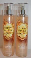 2 Bath & Body Works Warm Vanilla Sugar DIAMOND SHIMMER MIST spray 8 fl oz NEW