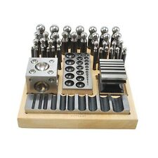 40pc Doming dapping Set Doming Punch bloque conjunto Jumbo 40pc Heavy Duty Steel