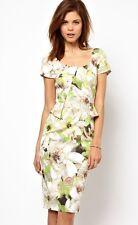 NewWT Karen Millen floral print fitted peplum shift dress UK 10 RARE