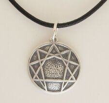 .925 Sterling Silver Ennegram Pendant Solid Enneagram Personality Types No Stone