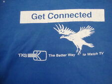 Vintage Get Connected TKS The Better Way To Watch TV Blue T Shirt Size XL