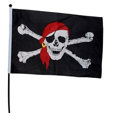 PIRATE WITH BANDANA 3 X 5 Feet FLAG Skull and crossbones JOLLY ROGER pirates