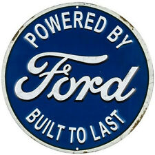 POWERED BY FORD SIGNS TRUCK SALES SERVICE DEALER PARTS MAN CAVE DIESEL TRACTOR