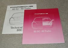 Porsche 911 Brochure 1979-1980 - 911 SC 3.0 & 911 Turbo 3.3 UK Market With Specs