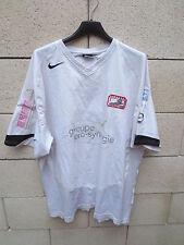 Maillot porté n°4  BLAGNAC F.C Nike worns shirt CFA 2 blanc rare football XL
