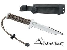 WILDSTEER TX-WILD BOWIE KNIFE PARACORD ARCHERY SPORT HUNTING SURVIVAL CAMPING