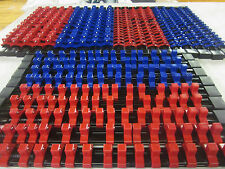 "30pc 1/4"" 3/8"" 1/2""DR ABS RED BLUE SOCKET RAILS RACKS HOLDER ORGANIZER MOUNTABLE"