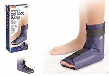 Gel Whole Foot Wrap Hot Cold Ankle Brace Therapy Support Soft Relax Muscles L/XL