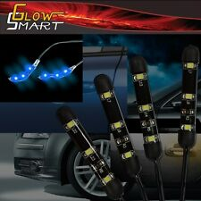 """2"""" Neon Blue LED Strip (4-piece) for Car Boat and Motorcycle & Parties"""