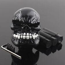 Manual Operation Car Gear Shift Knob Shifter Lever Resin Skull Black Custom New