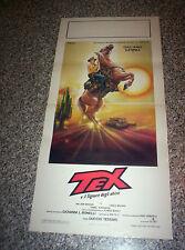 LOCANDINA FILM TEX E IL SIGNORE DEGLI ABISSI 1°ED.1985 TITANUS PERFETTO BONELLI