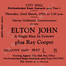 Elton John  Concert Coasters March 1979 Ticket High quality Coaster