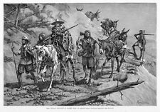 PIMA INDIANS, SILVER TRAIN MEXICO BY FREDERIC REMINGTON