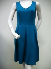 M60 Miss Sixty Sleeveless Box Pleated Skirt Dress Peacock Size 4 NEW NWT
