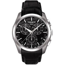 T0356171605100 Tissot Couturier Black Leather Strap Men's Chronograph Watch new
