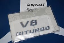 Mercedes Benz Genuine V8 Biturbo Emblem Badge Nameplate 1668172915 GL class