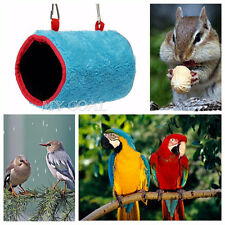 Plush Bird Pet Hammock Hanging Happy Hut Tent bed Cave Cage Snuggle Parrot Toy
