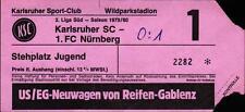 Ticket II. BL Süd 79/80 Karlsruher SC - 1. FC Nürnberg