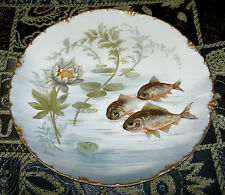 Antique Victorian Rosenthal Versailles Bavaria Fish Plate Hand Painted 1898-1906