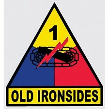 US ARMY 1ST ARMORED DIVISION STICKER - MADE IN THE USA!!