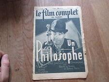 REVUE LE FILM COMPLET DU SAMEDI 2460  1941 un philosophe  goupil