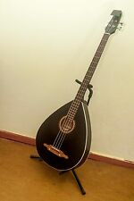 TREMBITA acoustic 4 string Bass Lute guitar made in Ukraine, Black, Kobza, VIDEO