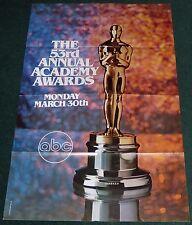 THE 53RD ANNUAL ACADEMY AWARDS POSTER 1981 OSCARS ABC
