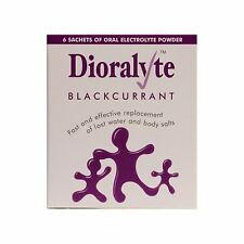 Dioralyte Replacement Lost Body Water & Salts Blackcurrant Flavour 6 Sachets