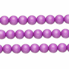 Wood Round Beads Light Purple 6mm 16 Inch Strand