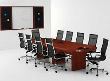 New Amber 10' Racetrack Office Conference Table for Boardroom Meeting Room