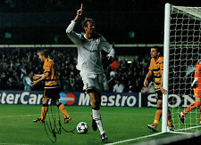 Peter CROUCH Signed SPURS & ENGLAND Large 16x12 Autograph Photo AFTAL COA