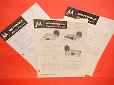 1958 DODGE ROYAL PLYMOUTH DESOTO CONVERTIBLE MOTOROLA AM RADIO SERVICE MANUAL 58