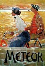 Art Deco Poster Meteor Bicycle Cycle Bike Ad Print