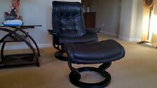EKORNES STRESSLESS ROYAL RECLINER & OTTOMAN MADE IN NORWAY