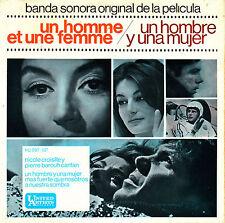 EP BSO un hombre y una mujer (homme et une femme) 45 SPAIN 1966 OST FRANCIS LAI