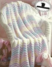 *Rainbow in the Clouds Baby Afghan crochet PATTERN INSTRUCTIONS