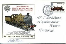 British Rail History cover BR37 North British Railway SIGNED C Williams