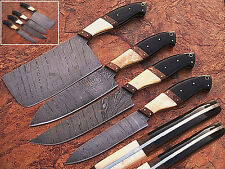 CUSTOM MADE DAMASCUS BLADE 4 Pc's. KITCHEN KNIVES SET. PZ-0010