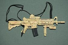 "Hot Toys 1/6 Camo M4 Assault Rifle Weapon w/ Sight Grip for 12"" Figures W-63"