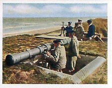 German Observation coastal battery Deutsches Heer WWI WELTKRIEG 14/18 CHROMO