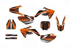 CRF 150R graphics decal kit for Honda Dirt Bike 2007 - 2015 #3333 Orange
