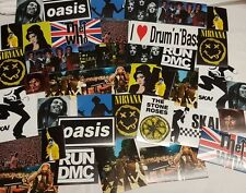 Music Sticker Set - Iconic Famous Image Stickers Mixed Lot - Various Bands etc