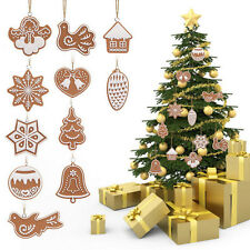 11Pcs/Set Animal Snowflake Biscuits CHRISTMAS Decor Tree Ornaments Polymer Clay