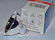 ★ LAMPADA  EFP 12 V / 100 W GZ6.35 PER PROIETTORE 8 SUPER 8 mm (Bauer,Bolex)  ★
