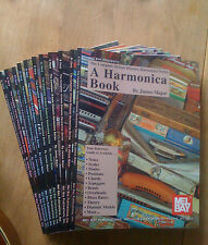 Complete 10-hole Diatonic Harmonica Books. Set of 12.