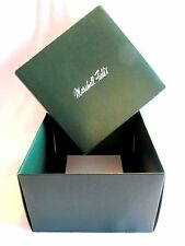"Marshall Field's Department Store Gift Box Original Green Collectible 6""x6""x4"