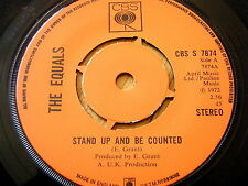 """THE EQUALS - STAND UP AND BE COUNTED  7"""" VINYL"""