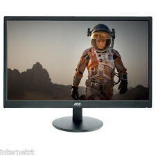 "AOC E2770SH 27"" HD WIDESCREEN LED PC GAMING MONITOR VGA DVI HDMI"