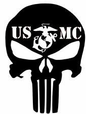 2 X PAIR Punisher Car Truck Vinyl Decal USMC Military Army Navy Marines MP